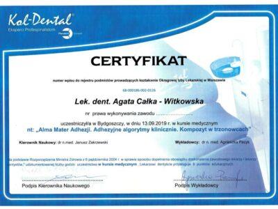 lek. stom. <span>Agata Całka-Witkowska</span> 5