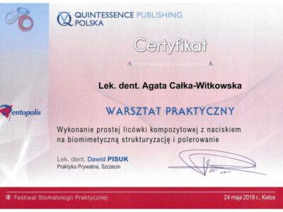 lek. stom. <span>Agata Całka-Witkowska</span> 6