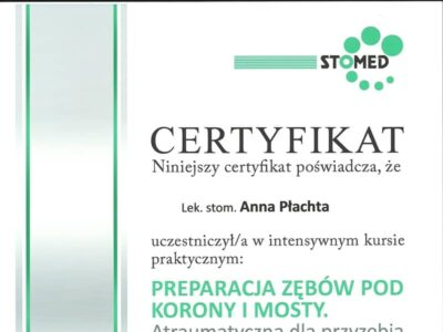 lek. stom. <span>Anna Płachta</span> 12