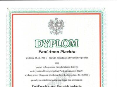 lek. stom. <span>Anna Płachta</span> 21