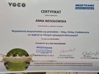 lek. stom. <span>Anna Wesołowska</span> 10