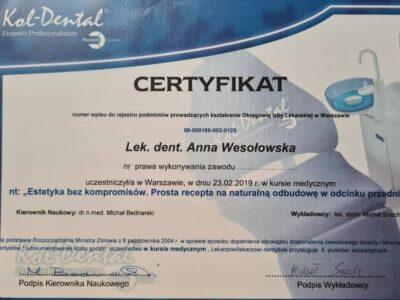 lek. stom. <span>Anna Wesołowska</span> 11