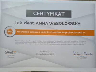 lek. stom. <span>Anna Wesołowska</span> 12