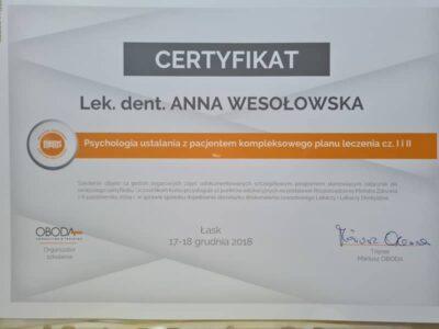 lek. stom. <span>Anna Wesołowska</span> 13