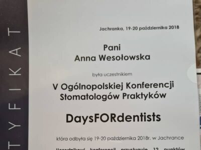 lek. stom. <span>Anna Wesołowska</span> 14