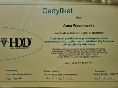 lek. stom. <span>Anna Wesołowska</span> 17