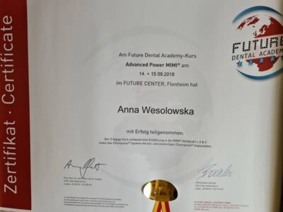 lek. stom. <span>Anna Wesołowska</span> 24