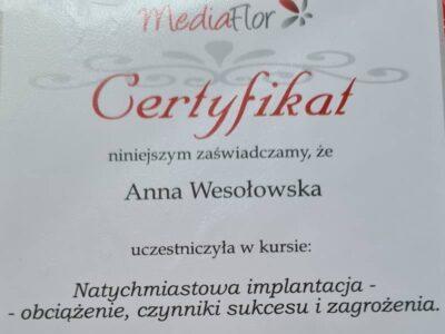 lek. stom. <span>Anna Wesołowska</span> 21