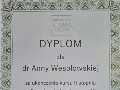 lek. stom. <span>Anna Wesołowska</span> 25