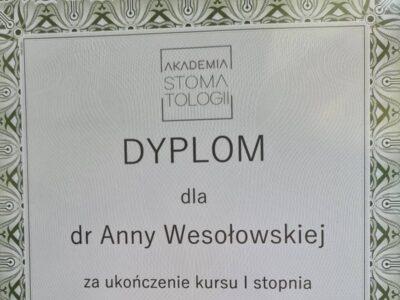 lek. stom. <span>Anna Wesołowska</span> 5