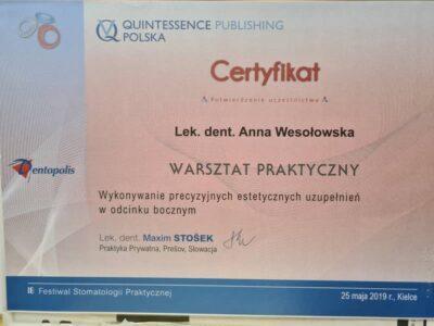 lek. stom. <span>Anna Wesołowska</span> 6