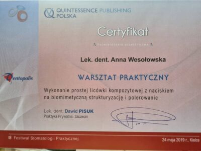 lek. stom. <span>Anna Wesołowska</span> 7