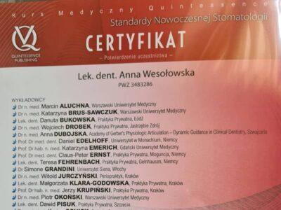 lek. stom. <span>Anna Wesołowska</span> 8