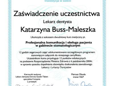 lek. stom. <span>Katarzyna Buss-Maleszka</span> 12