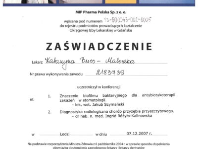 lek. stom. <span>Katarzyna Buss-Maleszka</span> 30