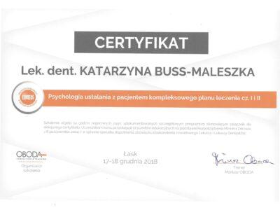 lek. stom. <span>Katarzyna Buss-Maleszka</span> 32