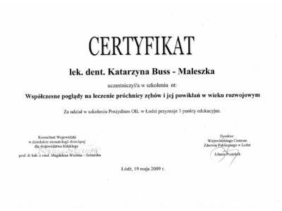 lek. stom. <span>Katarzyna Buss-Maleszka</span> 33