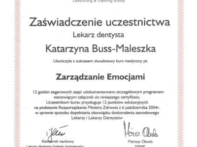 lek. stom. <span>Katarzyna Buss-Maleszka</span> 28
