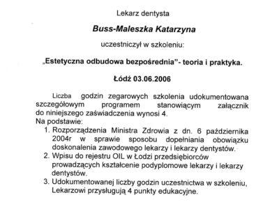 lek. stom. <span>Katarzyna Buss-Maleszka</span> 27