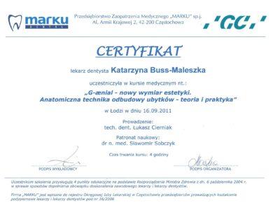 lek. stom. <span>Katarzyna Buss-Maleszka</span> 25