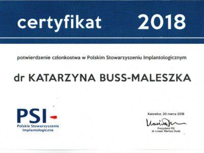 lek. stom. <span>Katarzyna Buss-Maleszka</span> 20