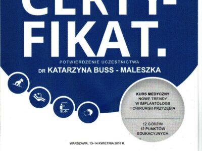 lek. stom. <span>Katarzyna Buss-Maleszka</span> 11