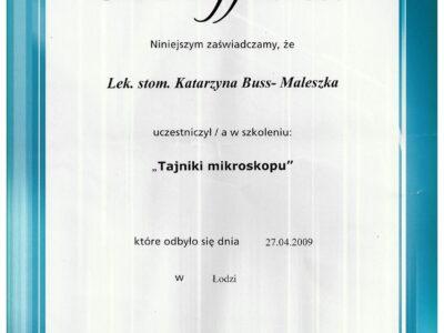lek. stom. <span>Katarzyna Buss-Maleszka</span> 35