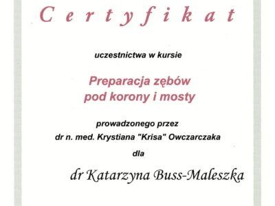 lek. stom. <span>Katarzyna Buss-Maleszka</span> 34