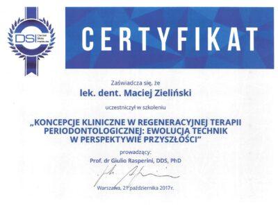 lek. stom. <span>Maciej Zieliński</span> 18