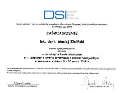 lek. stom. <span>Maciej Zieliński</span> 15